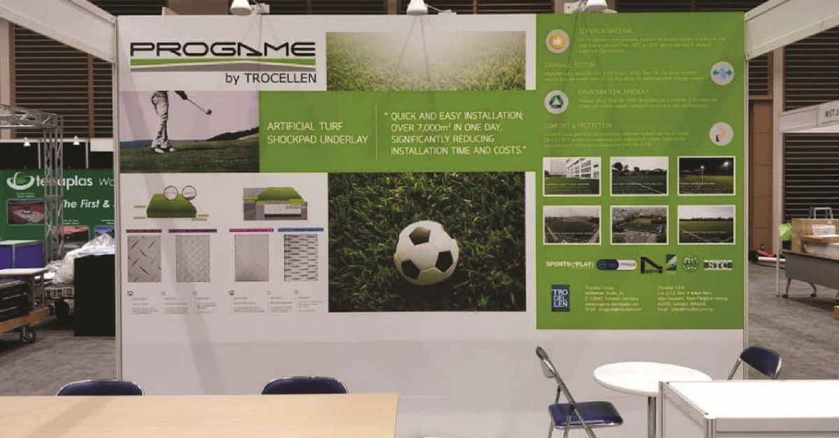 ProGame's booth at Stadia & Arena in Japan 2018.