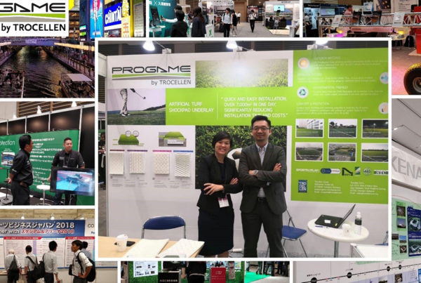 ProGame's exhibitor booth at Stadia & Arena in Japan 2018.