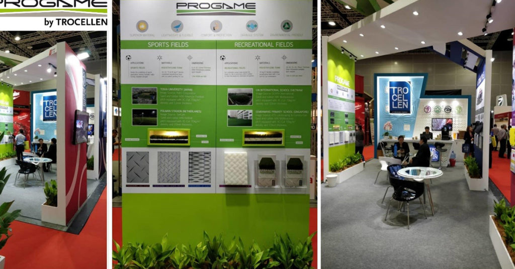 ProGames booth at Archidex 2018 in Kuala Lumpur.