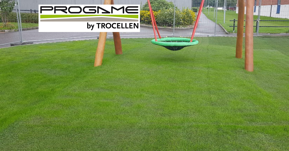 Hybrid Turf installation for Playgrounds